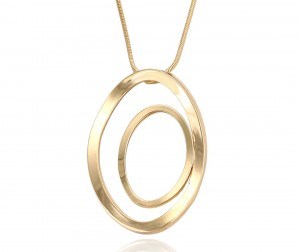 Colar Duo -Banho Ouro 18k
